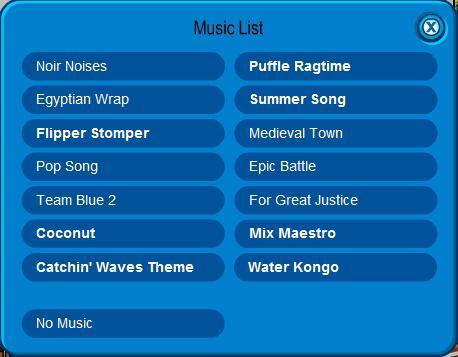 Music list 5-29-09